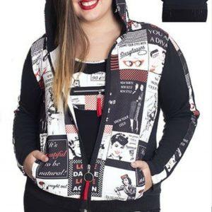Sudadera comic con capucha tallas grandes para mujer