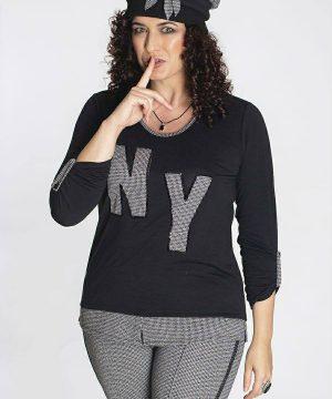 Camiseta tallas grandes NY para mujer