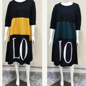 Vestido algodón manga larga LO