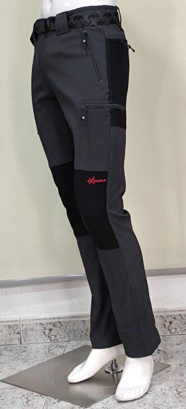 Pantalón montaña gris 6 bolsillos con cremallera para hombre