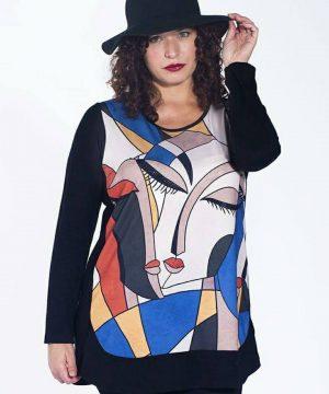 Camiseton Picasso tallas grandes para mujer