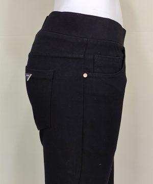 Pantalón negro 5 bolsillos para mujer_