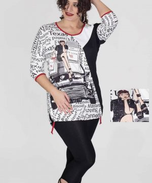 Camiseta larga tallas grandes ciudades Censured para mujer