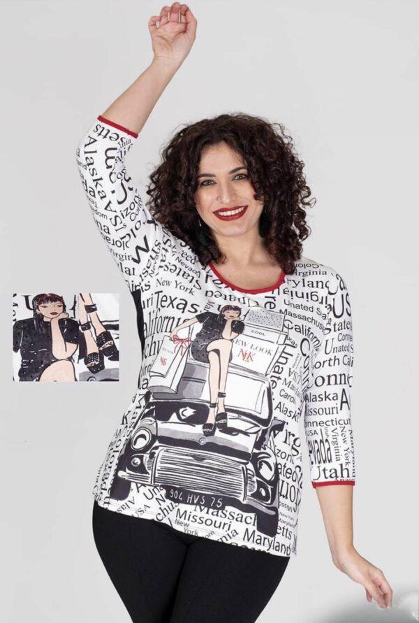 Camiseta tallas grandes Censured ciudades para mujer