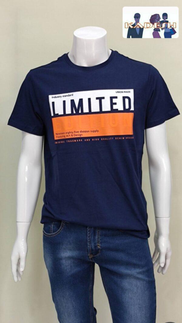 Camiseta manga corta marino hombre