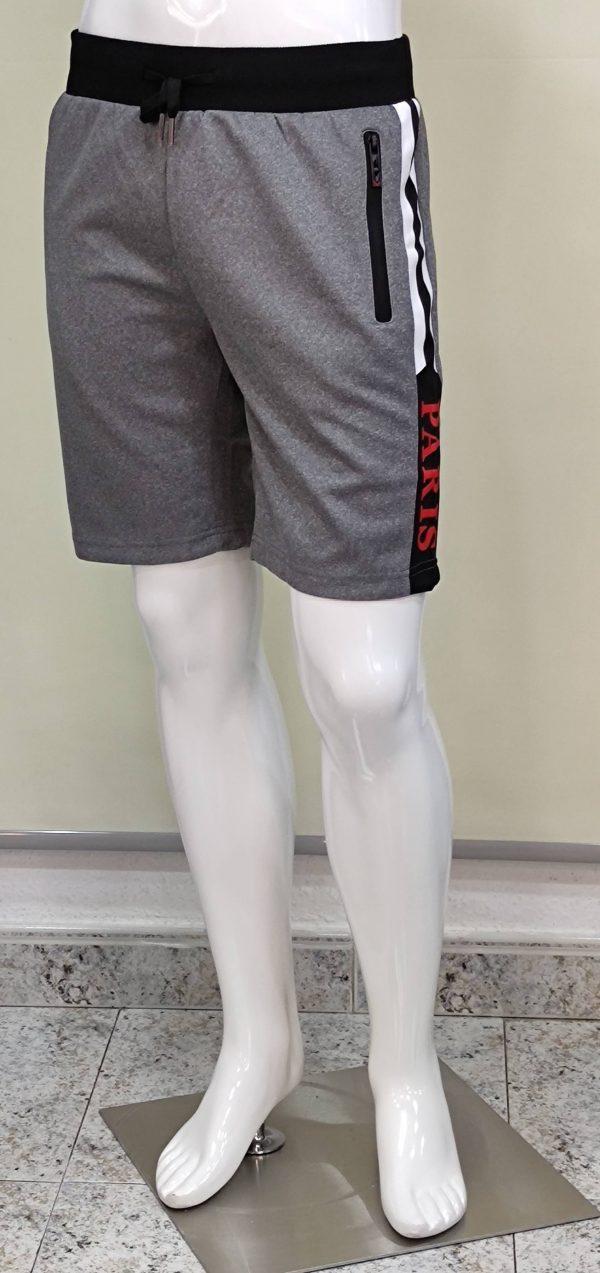 Pantalón chándal corto bolsillos cremalleras Paris hombre