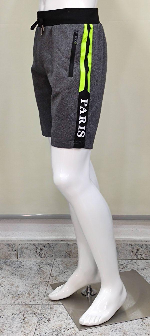 Pantalón chándal corto bolsillos cremalleras Paris