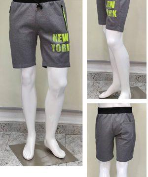 Pantalón chándal corto bolsillos cremalleras new York hombre