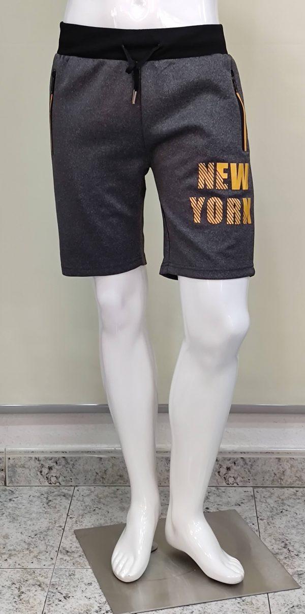 Pantalón chándal corto bolsillos cremalleras new York