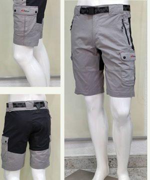 Bermuda trekking algodón gris claro hombre