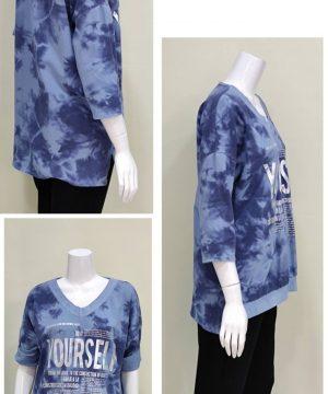 Camiseta sudadera azul mujer